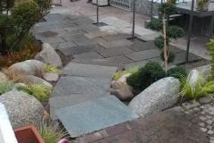 Gradini in pietra luserna con posa a secco